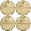 2017 $1 Trans-Australian Railway Mintmark 4-Coin Set