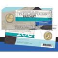 2017 RAM Trans Australian Railway 'S' Sydney Counterstamp One Dollar ($1) UNC