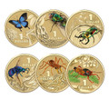 2014 $1 AlBr Colour Printed Coins - Bright Bugs - Complete Set of 6