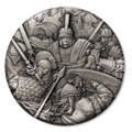 2018 $2 Ancient Warfare - Roman Centurion 2oz Silver Antique