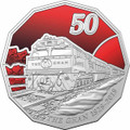 The Ghan 90th Anniversary 2019 50c Unc Coin