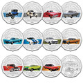 2017 Ford Cars Classic 12 Coin Set with Tin