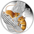 Year of the Mouse 2020 $1 Colour 1oz Silver Proof Coin