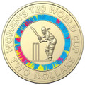 ICC Women's T20 World Cup 2020 $2 Al-Br Coloured Unc Coin