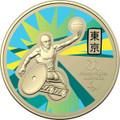 Tokyo Paralympics 2020 $1 Australian Paralympic Team Ambassador Aluminium-Bronze Frosted Unc Coin