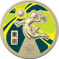 Tokyo Olympics 2020 $1 Australian Olympic Team Ambassador Aluminium-Bronze Frosted Unc Coin