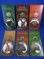 2008 - 2009 AUSTRALIAN $1 LAND SERIES - PAD PRINTED COIN - 6 COINS SET.