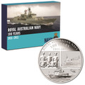 2011 Royal Australian Navy Centenary 1oz Silver Coin & Badge Set