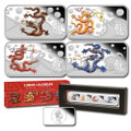 2012 Year of the Dragon 2012 1oz Silver Rectangle Four-Coin Set