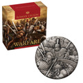 2018 Warfare - Roman Legion 2oz Silver Antiqued High Relief Coin