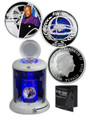 2015 CAPTAIN BENJAMIN SISKO DEEP SPACE NINE Star Trek Silver Coin Set 1$ Tuvalu