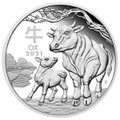 Lunar Ox 2021 $1 1oz Silver Proof Coin