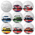 Australia 2020 Supercars 60 Years Touring Car Champions 50c UNC 9-Coin W/ Tin