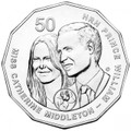 2011 50c Unc  Royal Wedding Coin