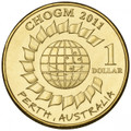 2011 Commonwealth Heads of Government Meeting UNC $1 Coin
