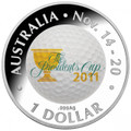 2011 The Presidents Cup - $1 Fine Silver Colour Printed Proof Coin