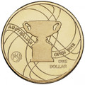 2012 Official Australian Open Men's - $1 Uncirculated Coin