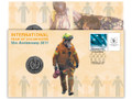 2011 International year of Volunteers 10th Anniv Stamp and Coin Cover