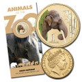 2012 UNC $1 150th Anniversary Of Melbourne Zoo Elephant