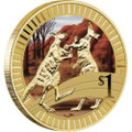 2012 YOUNG COLLECTORS ANIMAL ATHLETES – KANGAROO $1 COIN WITH FOLDER