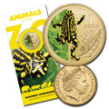 2012 Animals of the Zoo Series-$1 Unc Coin - Southern Corroboree Frog