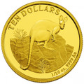 2010 $10 Gold Proof Coin – Yellow-Footed Rock-Wallaby
