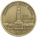 2012 ANDA Capital Town Halls $5 Antique UNC  Coin – Brisbane City Hall