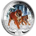WILDLIFE IN NEED 1oz Silver Proof Coin Series - 2012 Siberian Tiger