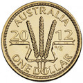2012 Wheat Sheaf Dollar: $1 AlBr 'S' Counterstamp Unc Coin