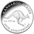 20th Anniversary of the Kangaroo Series:2013 $1 Fine Silver Proof Coin