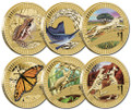2012 $1 Young Collectors Animal Athletes Uncirculated Complete 6 Coin Collection
