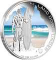 2013 Land Down Under $1 Surfing 1oz Silver Proof