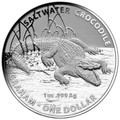 2014 $1 Australian Saltwater Crocodiles Graham 1oz Silver Unc