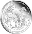 2014 $1 Lunar Year of the Horse 1oz Silver Proof