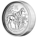 2014 $1 High Relief Lunar Horse 1oz Silver Proof