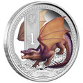 Tuvalu 2013 $1 Mythicial Creatures - Dragon 1oz Silver Proof