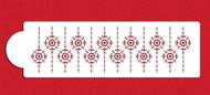 Designer Stencil Tufted Medallion Stripe C965