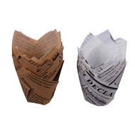 Newspaper Printed Muffin Wraps