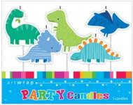 Dinosaurs 5pc Candle Set