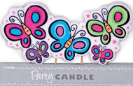 Large Butterflies Party Candle