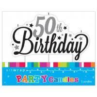 Artwrap Birthday Candles - 50th Birthday