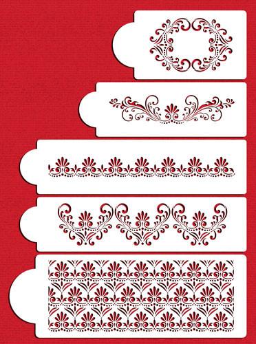 Fleur De Lis Cake Set C490
