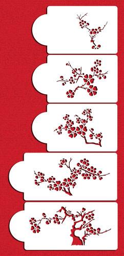 Stencil Blooming Cherry Tree C440 Set