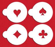 Designer Stencils Spades, Diamonds, Clubs & Hearts C235