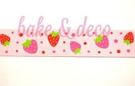 Sweet Strawberry Ribbon 15mm