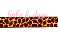 Giraffe Print Ribbon 20mm