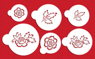 Designer Stencils Brush Emroidery Flower Set C790