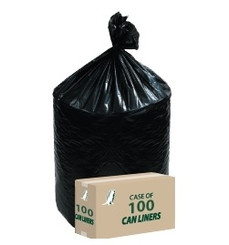 100 Heavy Duty can liners with 45 gallon capacity