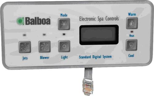 2500-153 Jacuzzi 6-Button Balboa Control Panel