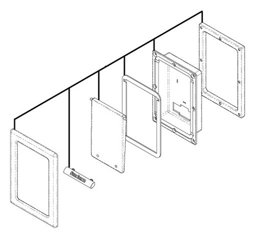 6455-261 Enclosure: iPod Assembly Cool Gray 2007-2009